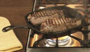 Can grill pans be used on electric stoves
